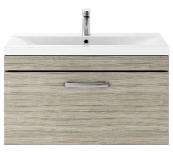 Additional image of Premier Athena 800mm 1 Drawer Wall Hung Cabinet With Basin 2 Gloss White Finish