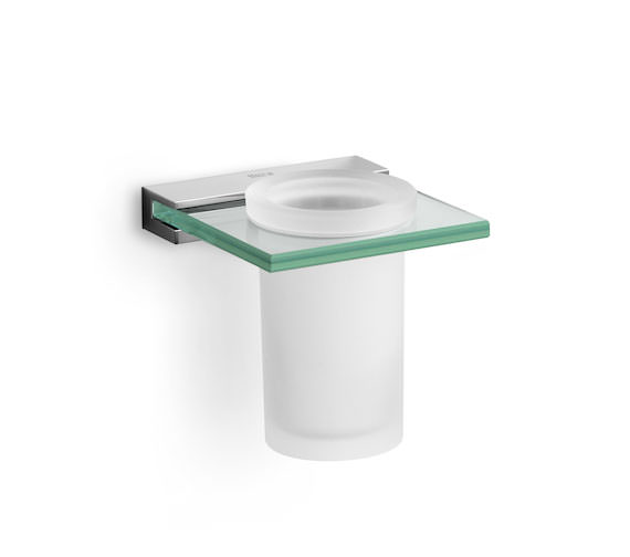 Roca Nuova Wall Mounted Tumbler Holder And Glass 115 x 110mm