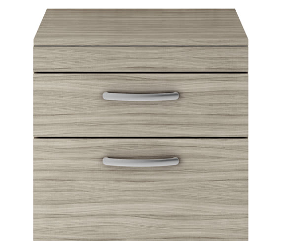 Additional image of Premier Athena 600mm 2 Drawer Wall Hung Cabinet With Worktop Gloss White Finish