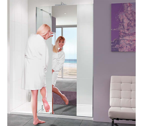 Lakes Nice Mirror Glass Walk-In Shower Panel 800mm