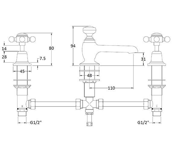 Technical drawing QS-V89203 / BAYT207