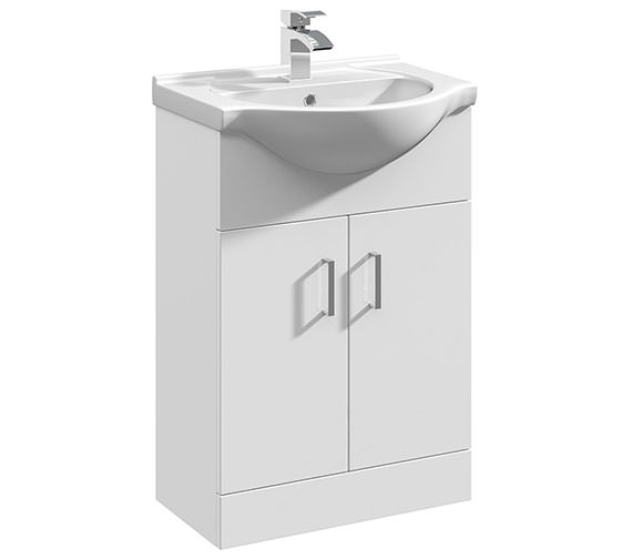 Essential Alaska 2 Door Vanity Unit 550mm And Basin