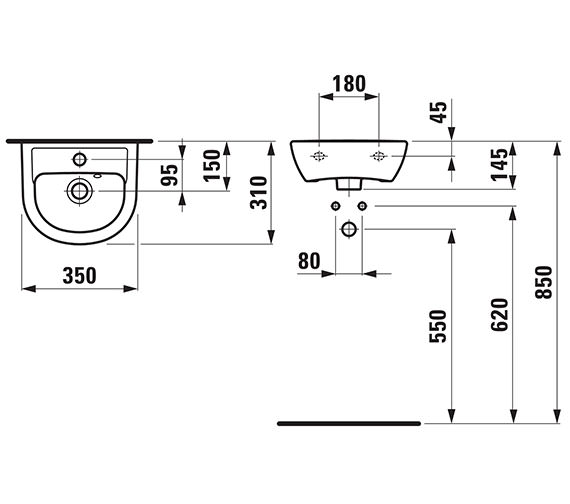 Technical drawing QS-V41934 / 15950WH