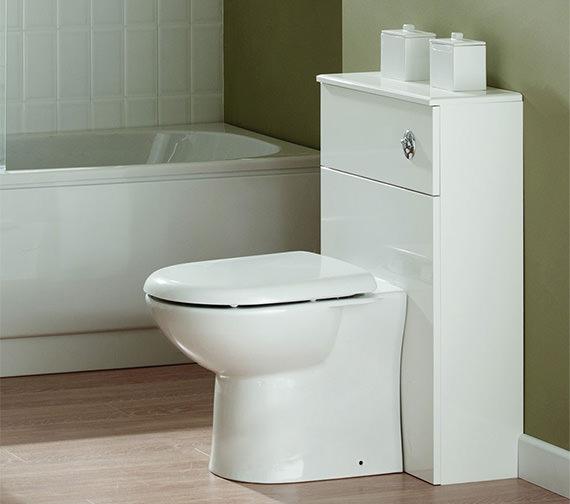 Essential Alaska Back To Wall WC Furniture Unit 500 x 300mm