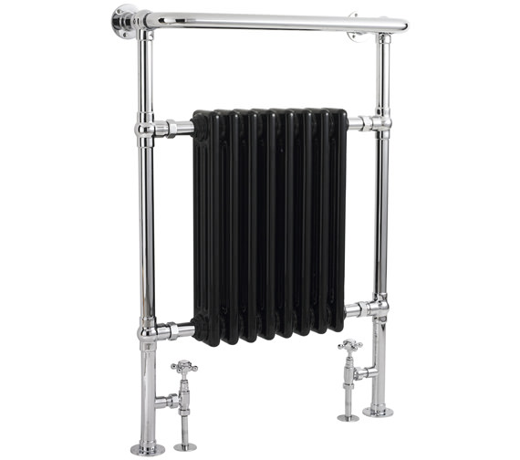 Bayswater Clifford 673 x 963mm Black Towel Rail Or Radiator