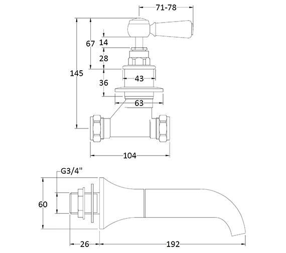 Technical drawing QS-V89211 / BAYT309