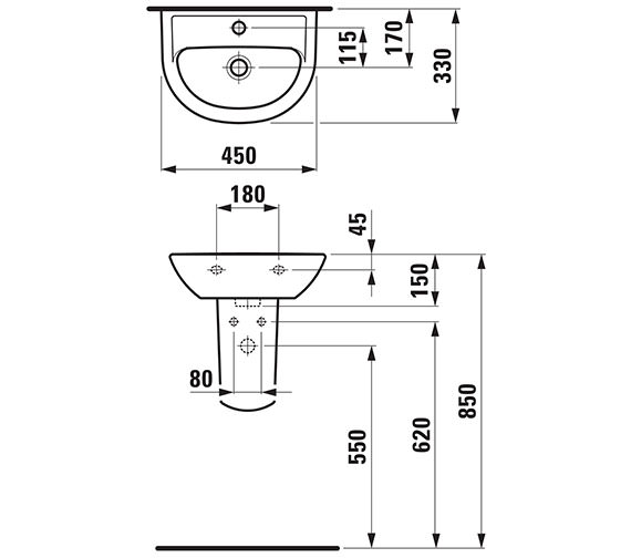 Technical drawing QS-V41936 / 15952WH