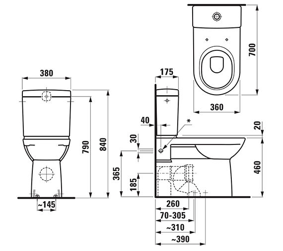 Technical drawing QS-V41958 / 24955WH