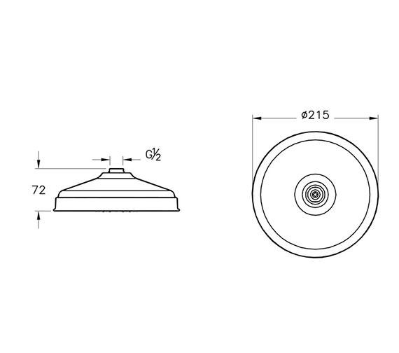Technical drawing QS-V90586 / A45661VUK