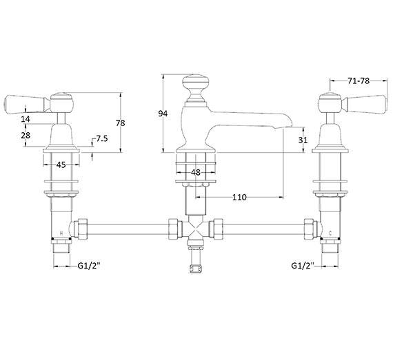 Technical drawing QS-V89205 / BAYT307