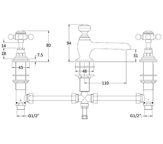 Technical drawing QS-V89204 / BAYT107