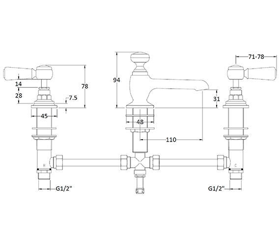 Technical drawing QS-V89206 / BAYT407
