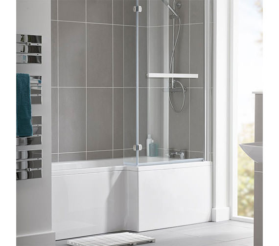 Essential Kensington 1500 x 850mm L Shape Shower Bath Pack - Left Hand