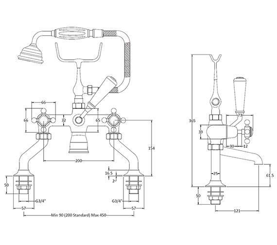 Technical drawing QS-V89221 / BAYT204