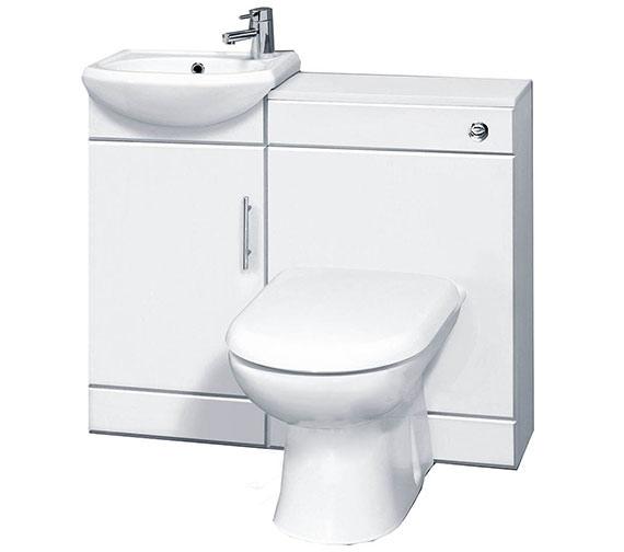 Essential Alaska White Furniture Set 950mm