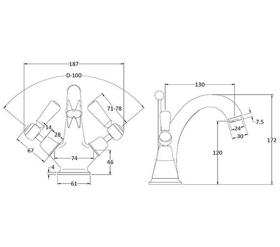 Technical drawing QS-V89227 / BAYT305