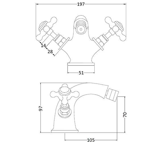 Technical drawing QS-V89230 / BAYT108