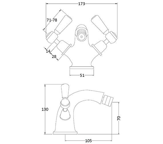 Technical drawing QS-V89231 / BAYT308