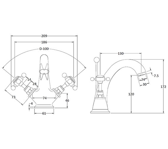 Technical drawing QS-V89225 / BAYT205