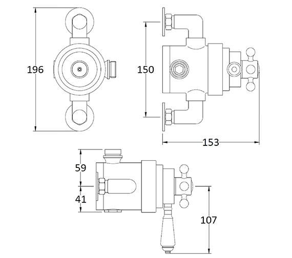 Technical drawing QS-V89237 / BAYS191
