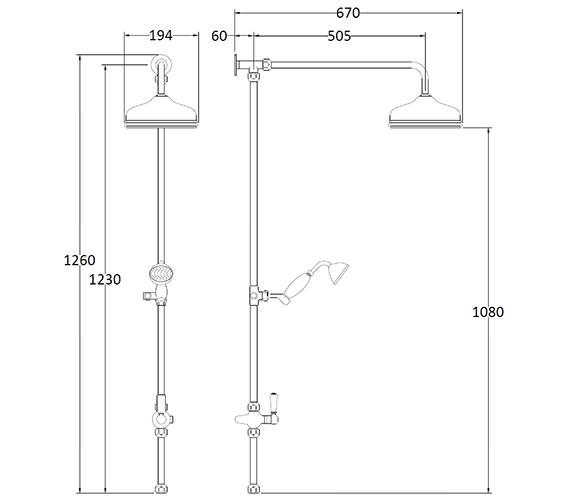Technical drawing QS-V89238 / BAYS201