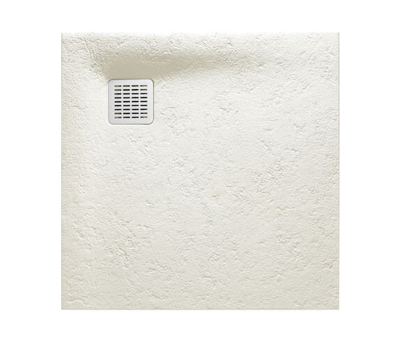 Alternate image of Roca Terran 800 x 800mm Superslim Stonex Shower Tray White