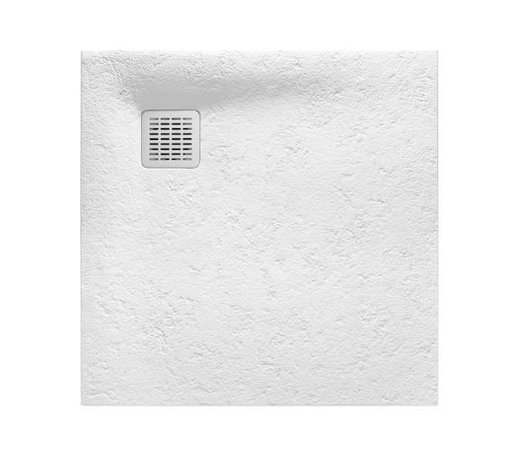 Roca Terran 900 x 900mm Superslim Stonex Shower Tray White