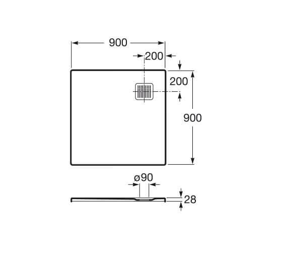 Technical drawing QS-V92065 / P10338438401100