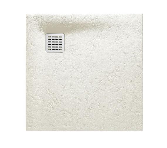 Alternate image of Roca Terran 900 x 900mm Superslim Stonex Shower Tray White