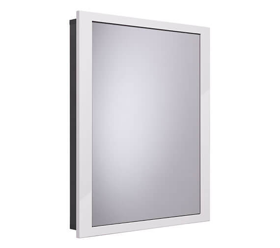 Roper Rhodes Scheme 600 x 75mm Recessed Cabinet For Stud Wall Gloss White