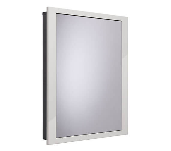 Alternate image of Roper Rhodes Scheme 600 x 75mm Recessed Cabinet For Stud Wall Gloss White
