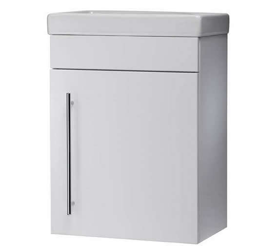 Roper Rhodes Esta 460mm White Wall Mounted Vanity Unit And Basin