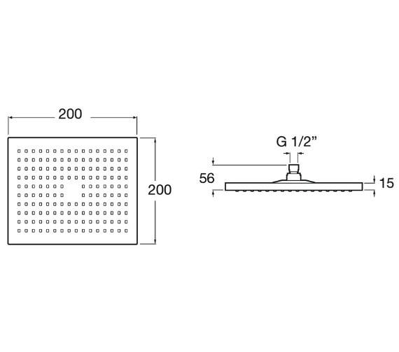 Technical drawing QS-V91222 / 5B2350C00