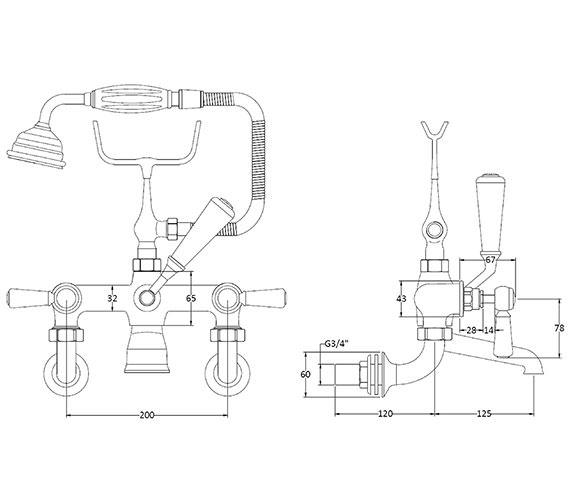 Technical drawing QS-V89236 / BAYT410