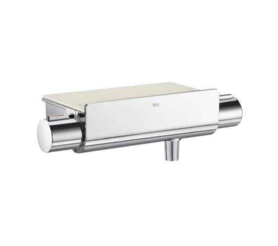 Roca T-2000 Wall-Mounted Thermostatic Shower Mixer Valve With Shelf