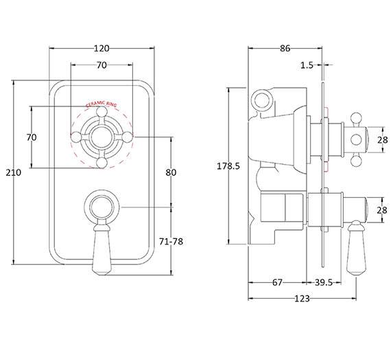 Technical drawing QS-V89249 / BAYS102