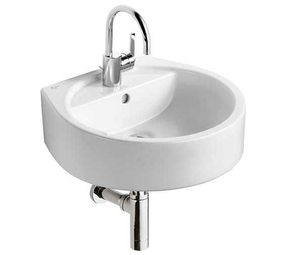 Ideal Standard White Round 1 Tap Hole Basin 500mm - E0007