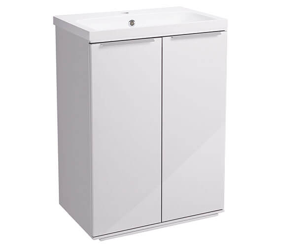 Roper Rhodes Scheme 600mm Gloss White Freestanding Double Door Unit