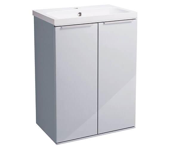 Alternate image of Roper Rhodes Scheme 600mm Gloss White Freestanding Double Door Unit
