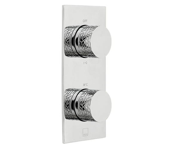 Vado Omika 2 Outlet And 2 Handle Vertical Concealed Thermostatic Valve