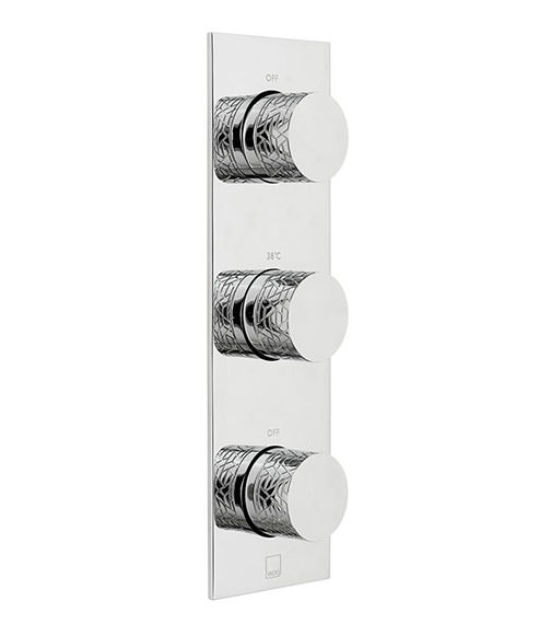 Vado Omika 2 Outlet And 3 Handle Concealed Thermostatic Valve