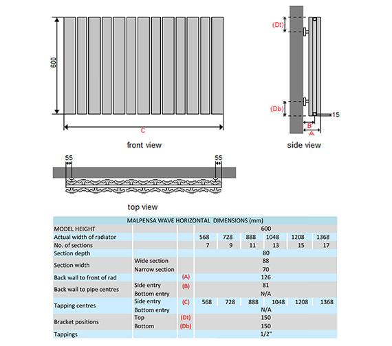 Technical drawing QS-V29335 / MALW6H7S