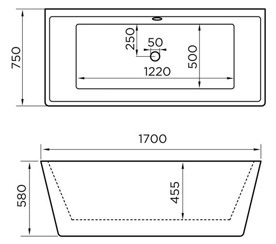 Technical drawing QS-V84213 / 74001-1700C