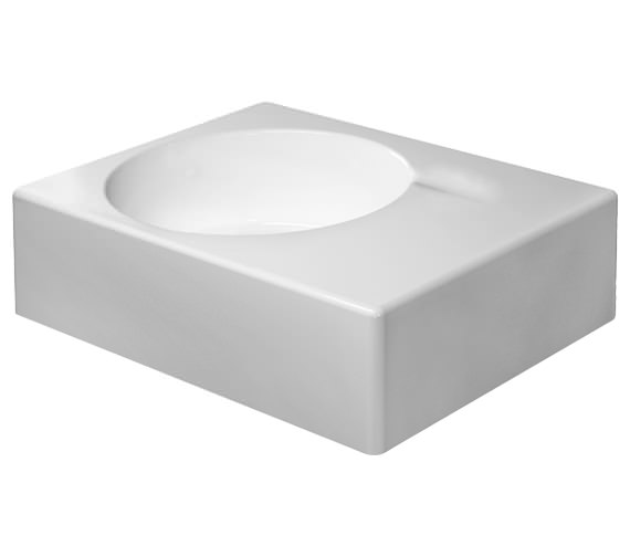 Duravit Scola 615mm Left Side Bowl Washbasin With Pre-Punched Tap Hole