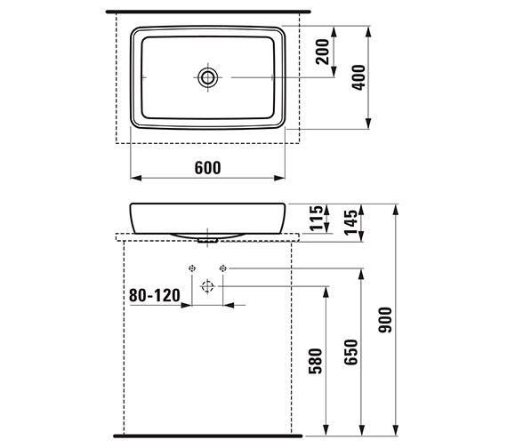 Technical drawing QS-V41914 / 16952WH