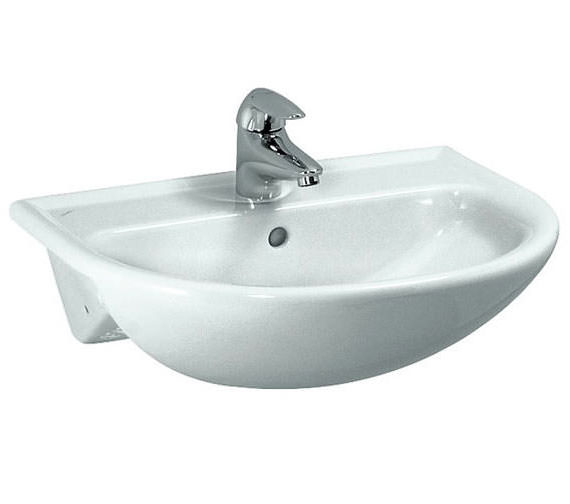 Laufen Pro B 560 x 440mm Semi Recessed Basin With 1 Tap Hole