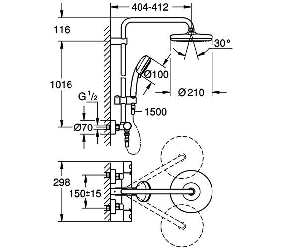 Technical drawing QS-V88390 / 26302001