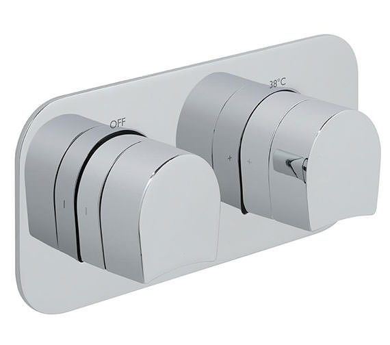 Vado Kovera Horizontal Concealed 2 Outlet 2 Handle Thermostatic Valve