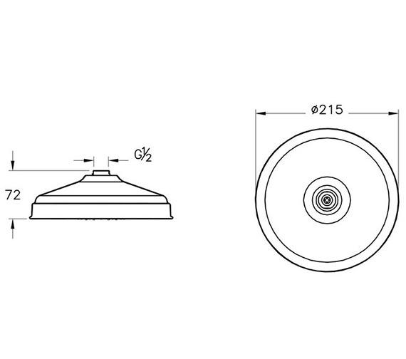 Technical drawing QS-V90585 / A45660VUK