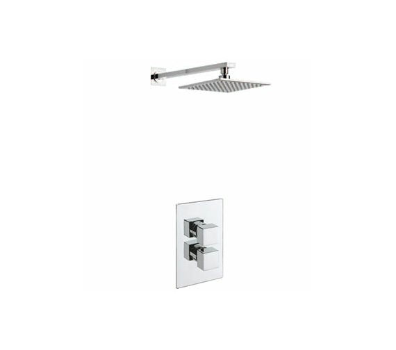 Tre Mercati Dance Concealed Shower Valve With Overhead Arm And Rose